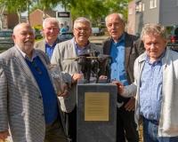 Jaap Hartmann (l) und die Organisatoren Bertie Bussink, Bernd Brennemann, Johannes Hoven und Freek Diersen