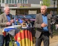 Bertie Bussink und Johannes Hoven bei der Begrüßung
